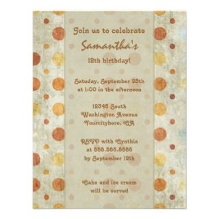 Vintage girls polka dots birthday party invitation invitation