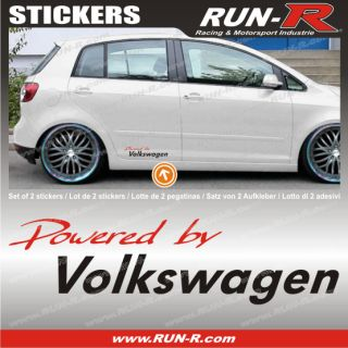 VW sticker decal Polo Golf Passat Lupo Bora Eos R32 Volkswagen