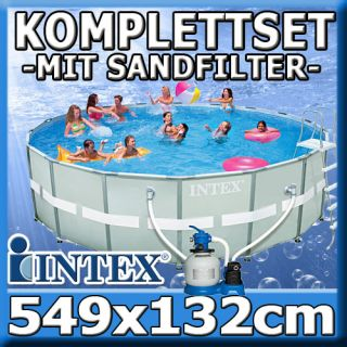 INTEX Swimming Pool Ultra Frame Stahlwand Schwimmbad 549x132