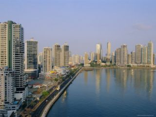 Skyline, Panama City, Panama, Central America Photographic Print by Bruno Morandi