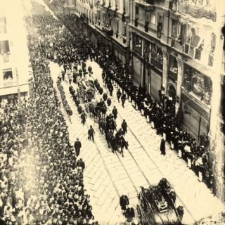 Funeral of Archduke Francesco Ferdinando and Wife, Killed During Attack on Sarajevo, July 28, 1914 Photographic Print by Carlo Wulz