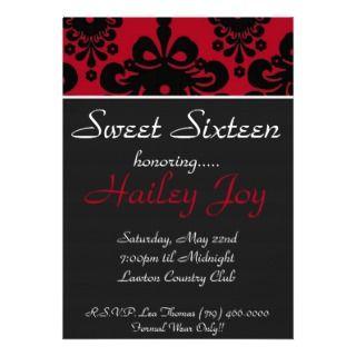 Sweet Sixteen, honoring, HPersonalized Invite