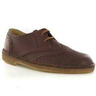 Clarks Khan Brogue Mahogany Leather Herren Shoes Size 42 EU: