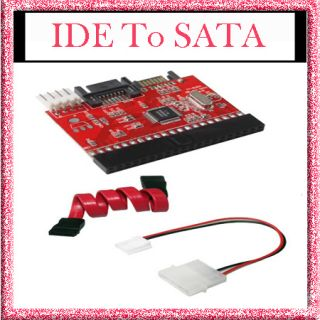 IDE TO SATA 100/133 HDD CD DVD Converter Adapter + Cable New