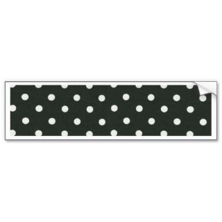 Black and white Polka Dot Design Bumper Stickers