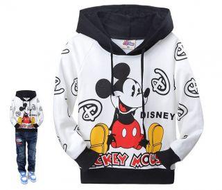 Kinder Jungen Mädchen Micky Maus Kapuzen Pullover SweatShirt Hoodie