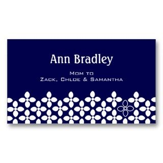 Cherry Blossom Mom Calling Card Business Card