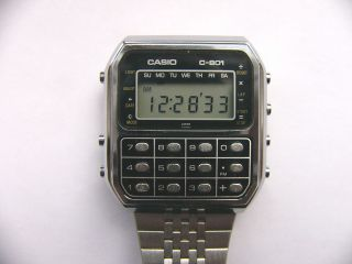 Vintage LCD watch CASIO C 801 Calculator TOP