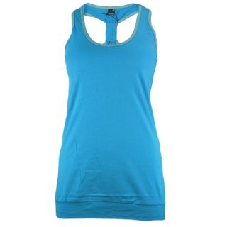 BENCH DAMEN T SHIRT GATHER TEE BLGA/2250 BL143 BLAU
