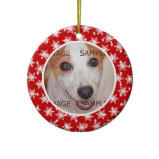 Pet memorial photo verse PERSONALIZE Christmas Ornaments