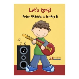 Jam Session   Birthday Party Invitation