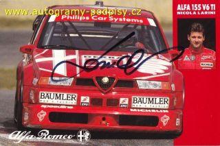 Nicola LARINI   original AG, old Alfa Romeo 155 AG card