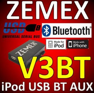 Zemex V3 USB iPod iPhone Adapter Alfa 147 156 159 Mito