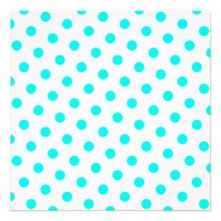 Aqua Polka Dots Announcement