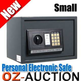 Small Personal Electronic Security Safe Box w Code Key