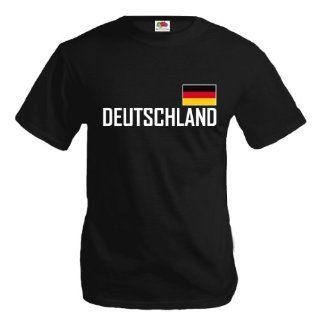 Coole Fun T Shirts DEUTSCHLAND T SHIRT, SCHWARZ Sport
