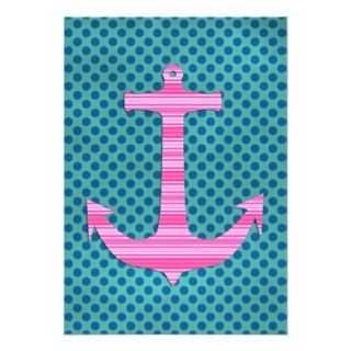 sailor polka dots stripes nautical anchors invitation