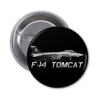 F14 Tomcat VF 103 Jolly Rogers   drawing Pinback Button
