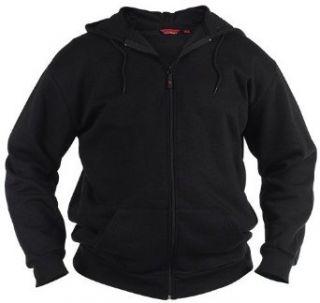 Duke Clothing   Extra lange Sweatjacke in Überlänge, Schwarz