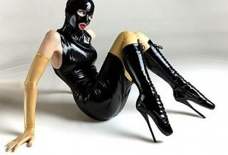 Latexhandschuhe, Latex Handschuhe extralang ca. 66cm , transparent Art