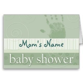Soft green pastel baby shower invitation card