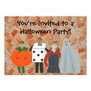 Abstract Halloween Costume Party Invitations