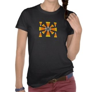 Halloween Candy Corn Square T Shirts