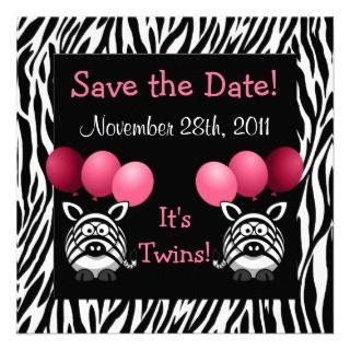 Baby Shower Save the Date Personalized Invitations
