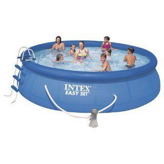 Intex EASY POOL SET mit Filterpumpe 457 x 107 Schwimmbad Abdeckplane
