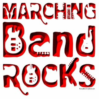 Red Marching Band Rocks Photo Cutouts