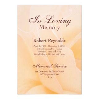 In Loving Memory Invitations, 166 In Loving Memory Announcements