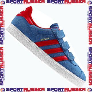 Adidas Gazelle 2 CF Junior blue/white/red Klett