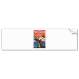 Vintage US Army Air Service Poster Art Bumper Sticker