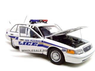 FORD CROWN VIC DES PLAINES IA POLICE 118 AUOAR MODEL