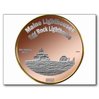 Egg Rock Lighthouse Coin/Token Post Card