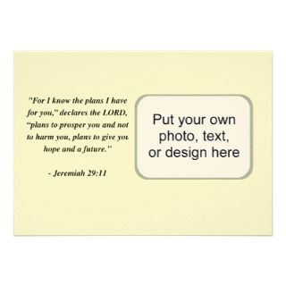 JEREMIAH 2911 Bible Verse Custom Invites