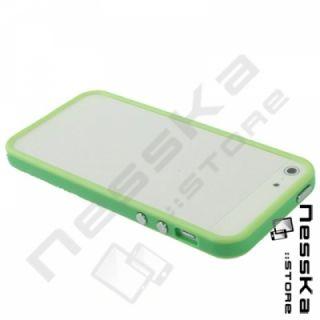 iPhone 5 Grün Silikon TPU Bumper Case Cover Tasche Schutzhülle Wie