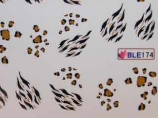 Nail Art Sticker Tattoo One Stroke BLE 174 leo