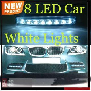 4W 12V New Energy Saving Bright White 2 x 8 LED Lamp Car Daytime