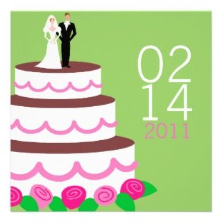 Save the Date Announcements {Wedding Cake}