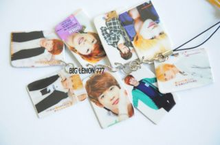 SHINEE Korean Band Mobile /Cell Phone Strap Keychain Keyring N16