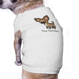 Cartoon Chihuahua (brindle fawn sable smooth coat) Doggie Tee