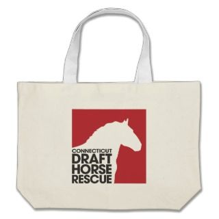 CT Draft Horse Rescue tote bag