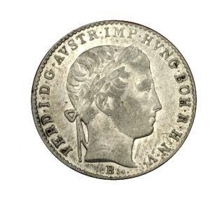 FERDINAND I * SILVER 3 KREUZER 1838 B SCARCE HIGH GRADE