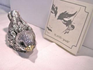 Vogel Flavio gioielli 800 er Silber / 2 Onyx ( Augen)
