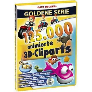 125.000 Animierte 3D Cliparts (DVD ROM) Software