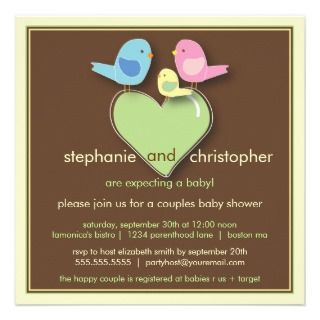 BABY Blocks Blue Green Boy Baby Shower Personalized Invitation