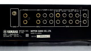 Yamaha C 40 Natural Sound Stereo Control Amplifier HiFi Vorverstärker