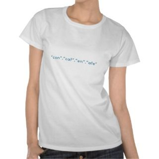 Concatenate PHP Funny Coding Tee Shirt