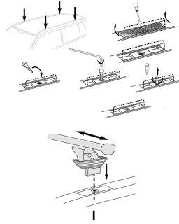 Dachträger AURILIS ORIGINAL FIAT Idea (Steilheck 5 Türer) ab 2004